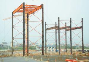 雕城二期一标段钢结构工程-让建筑走下蓝图 用结构托起明天